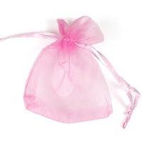 Organzapåse rosa 7x9 cm