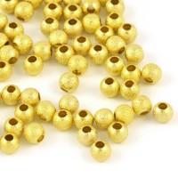 Stardust pärlor guld, 4mm