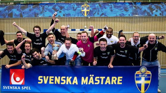 Malmö City FC. Svenska Mästare i Futsal 2014.