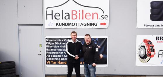 Från vänster: Stefan Karlsson (försäljning Prespa Birlik), Tony Grönberg (platschef HelaBilen).