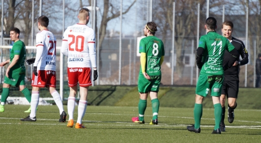 Bild från matchen mot IS Halmia