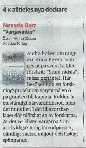 DN 2014-12-20 Boklördag, Lotta Olsson tipsar