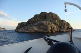Flera vackra öar passeras.