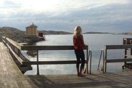 Dambadet vid Makrillviken.
