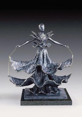 """""""Dalínian Dancer"""" brons, upplaga 350 ex, höjd 40,5 cm."""