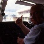 CO-piloten har landat. Under inflygningen hade vi en enorm flock av Flamingos som lyfte under oss. En fantastisk syn!