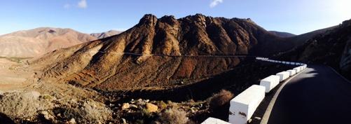 En av dom 3 bergen som jag cyklade över på mina turer