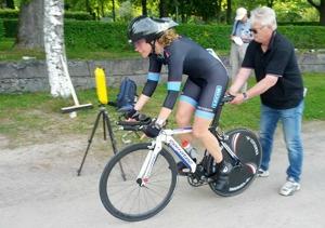 Charlotte Brems från Stenungsund är en av sju starka Sundetcyklister som ska köra veteran-VM i Danmark. Foto: Rasmus Olsson.