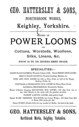 Annons från 1891