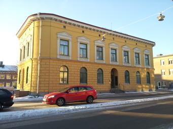 """""""Smörasken"""" som den kallas i folkmun är Umeå Energis hus."""