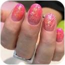 handmålat-rosanaglar-glitter