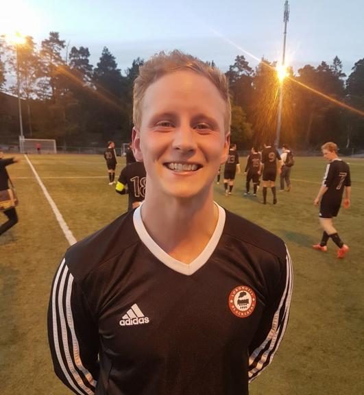Jesper Nyman, efter hans stora genombrott mot FK Bromma.
