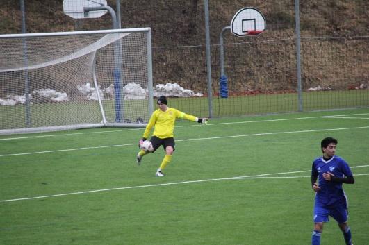 Olle Nyberg, mittfältsdynamon som gjorde en strålande insats som vikarierande målvakt.
