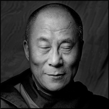 Clive Arrowsmith HH-Dalai-Lama-Eyes-Closed.Squre,Arrowsmth.©