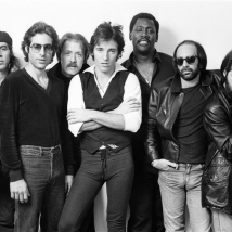 bruce springsteen and e street band studio bruce in center arms crossed NEW YORK CITY, 1977