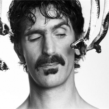 Frank Zappa with snakes studio headshot close NEW YORK CITY