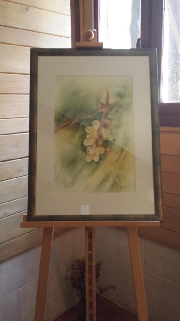 En målning i showroomet...druvor så klart :)