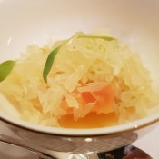 Thai pomelo salad with papaya, orange & Asian herbs