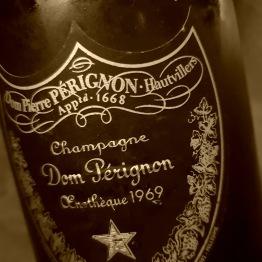 Champagne dom perignon vitage enotheque 1969