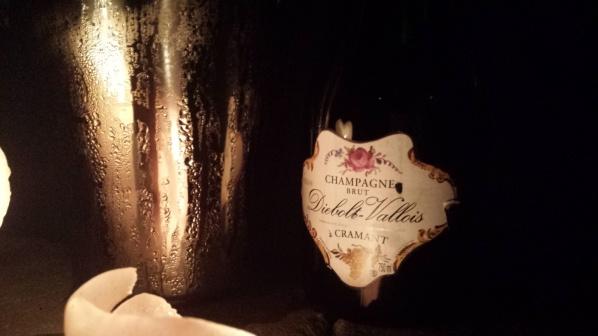 Krispig Diebolt-Vallois prestige Champagne i oktober natten...