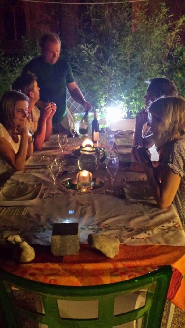 ...En otroligt mysig och god middag på Familjen Bruns terass
