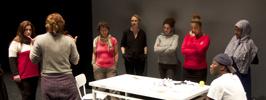 Repetition med folkhögskolestudenter och lärare från  Angereds-, Finska Mångkulturella- och Kvinnofolkhögskolan