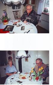 Åkersdal;  Överst Erland Ullberg 1997  -- Nederst Erland och Annalisa Ullberg april 1995