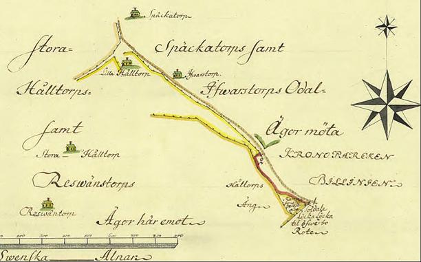 Klicka på bilden för en större karta! (Lantmäteriet Historiska Kartor)
