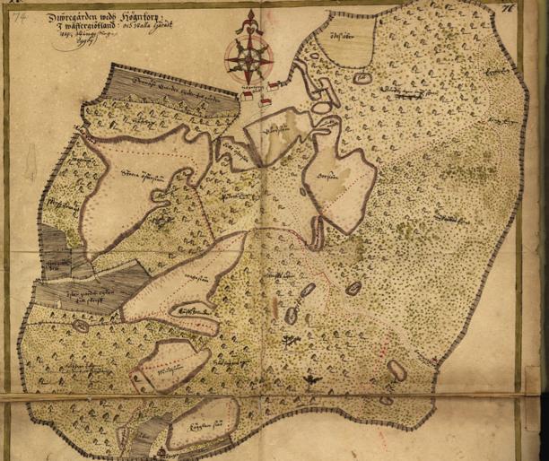 Klicka på bilden för större karta! (Lantmäteristyrelsens arkiv via Riksarkivet)