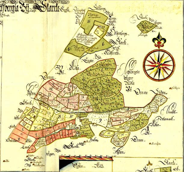 Klicka på bilden för större karta! (Lantmäteriet Historiska Kartor)