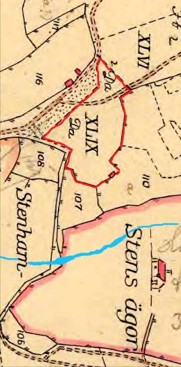 (Karta från Lantmäteriets Historiska Kartor - kartunderlag från 1794)