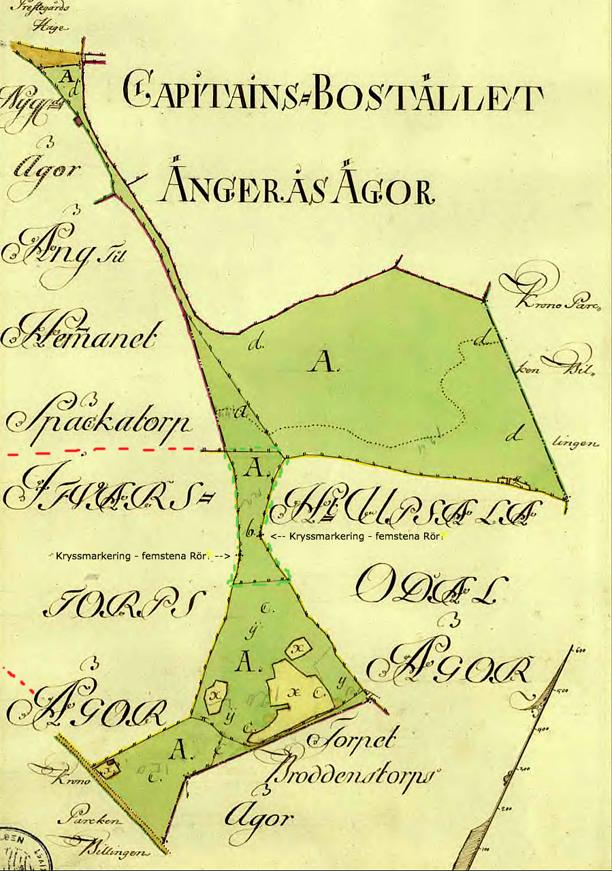 Trakten A. är en rest av Kronoparken Billingen i Kronans ägo efter försäljning av Upsala, Späckatorps och Ifwarstorps ägor. Torpet Broddenstorp låg fortfarande på Kronomark, om än inhägnat och avskilt