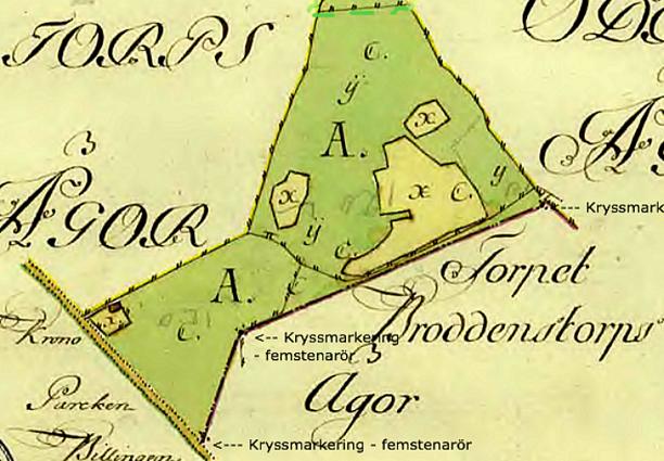 Detalj av karta 1783.