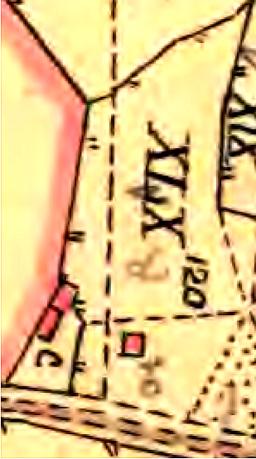 Detalj från skifteskartan 1794 inför skiftet 1803 av Billingeliderna. (Lantmäteriet Historiska Kartor)
