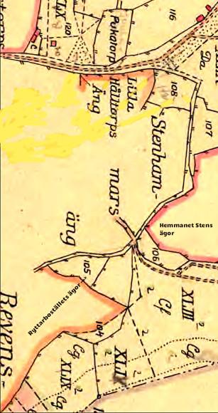 Karta 1794 som underlag för skiftet 1803