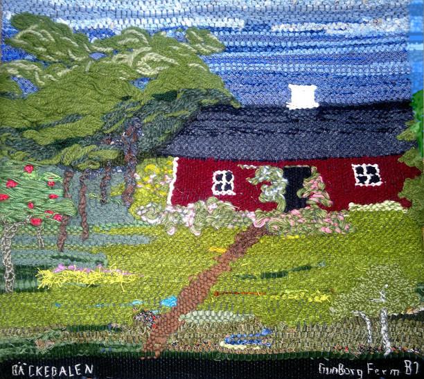 För bättre upplevelse av bildens digitala visning av textilverket har högra övre sidan utanför textilen retuscherats något (Kent Friman, 2013)