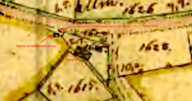 För tydligare läsning av kartan är den något ifärgad av Kent Friman, 2013