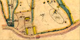 Kartan 1867 visar byggnadernas läge där nuvarande väg från Ängarås når Hålltorp i kurvan - byggnaderna revs troligen för vägbygget