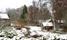 Ladugård och uthus på den forna Kilen med bäcken till höger