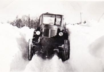 Ljungstorpsvägen 1951 mellan Lövberga och Slottet. Bild, 2013, från Rolf Carlsson som bott på Redsvenstorp under 1950-talet.