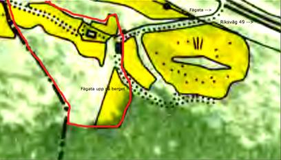 Karta 1960. Stenslund med röd markering för ungefärligt tillhörande mark under 1800-talet. Lantmäteriet Historiska Kartor.