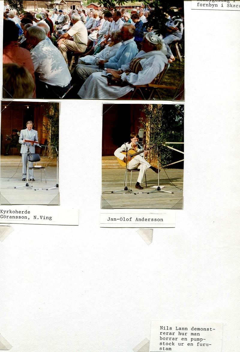 Sidan ovan från 4/6 1990, Hembygdsdag i fornbyn i Skara. Nedan  Sid 34.