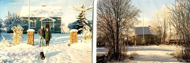 Några skepnader för boningshuset under senare tider med hyresgäster på Uppsala. Bl a Nanny och Sven Karlsson. Foton från Gunborg Ferms samlingar, Ljungstorp, 2014.
