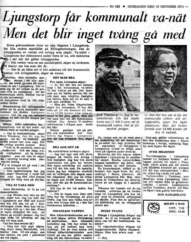 Klipp ur Gunborg Ferms samling, Ljungstorp, 2014