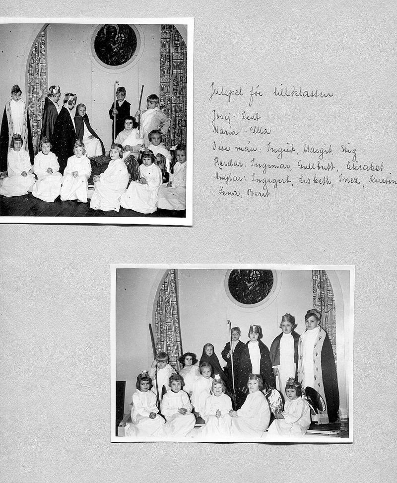 Sid 8. Bild 1: Bakre rad fr vä; Stig Gustavsson, Mossen, Ingrid Persson, Överbo, Margit Karlsson, Solhem, Ulla Lann, Lindåkra, Kent Friman, Lillhem, (framför) Gull-Britt Sjökvist, Gustavsberg och Ingemar Tornberger, Kyrkebo. ........ Främre rad fr vä; Ingegerd Haraldsson, Simmesgården, Lisbet Andersson, Fiskaregården, Inez Friman, Lillhem, Kerstin Hellner, Lilla Ulunda, Lena Palm, (bakom) Elisabet Karlsson, Skolan och Berit Strömberg, Björsgården 2. ......... Bild 2; - samma deltagare som bild 1!