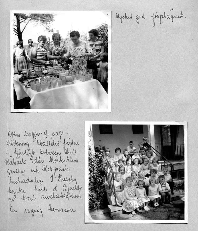 Sid 36.Bild 1: fr vä; Margit Lindh, Björsgården, Kerstin Lann, Lindåkra, fru Hellner, Lilla Ulunda, Maj-Britt Strömberg, Björsgården 2, Edit Andersson, Fiskaregården, Margareta Karlsson, Skolan med minsta dottern Ingrid. ........ Bild 2: Fr vä längst bak; Kerstin Lann, Lindåkra, Margit Lindh, Björsgården, Bo Hermansson, Fiskaregården, Stig Andersson, Fiskaregården, Stig Gustavsson, Mossen och bakom dem fr vä; Göran Holmberg, (från sidan) Börje Andersson, Fiskaregården och Peter Hellner, Lilla Ulunda. .......... 2:a rad bakifrån fr vä; Margita Bjurklo, Prästgården, Helena Gustavsson, Ulvåsa, Margit Karlsson, Solhem, Kerstin Hellner, Lilla Ulunda, Elisabet Karlsson, Skolan, Berit Strömberg, Björsgården 2. ......... 2: a raden framifrån fr vä;  Ulla Lann, Lindåkra, Ingegerd Haraldsson, Simmesgården, Inez Friman, Lillhem, ....  Jonsson, Blomberg, Ann-Marie Persson, Högtuna Överbo och Mikael Fassé, Villa Nåås. ...... främre rad fr vä; Lisbet Andersson, Fiskargården, Ingrid Karlsson, Skolan, Inger Hellner, Lilla Ulunda och Tommy Nilsson, Nygården. Inskrivet av Kent Friman, 2014-05-29.