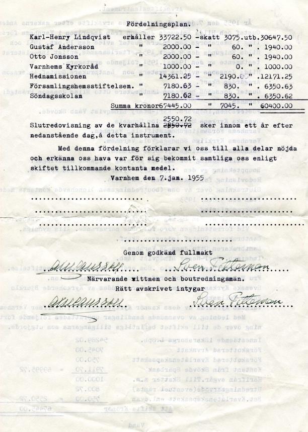 Dokumentet finns i Skarke-Varnhems Hembygdsförenings arkiv, 2014. Publicerat med Margit Lindqvists goda minne!