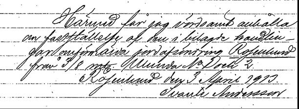 Avsöndringen fastställs till 1913-04-19.