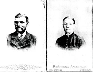 Soldaten Carl Winter och hans hustru Inga Maria Winter i ungefärlig ålder för denna tid. Bild från Gunborg Ferms samlingar, 2014. Klicka på bilden för större bild!