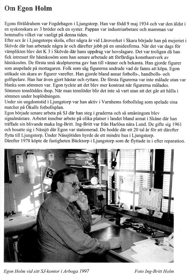 Sida ur Varnhemsbygden 2009, artikel av Alf Hansson.